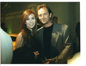 Lily Moore and Luke Perry