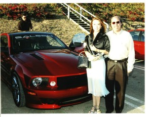 Lily Moore and Steve Saleen