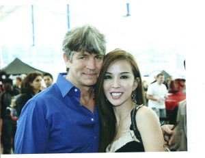 Eric Roberts and Lily Moore