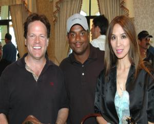 Steve Moore, Alfonso Ribeiro and Lily Moore