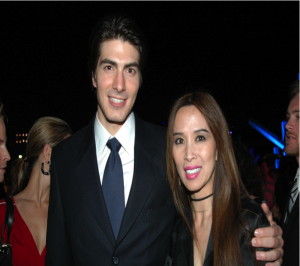 Brandon Routh and Lily Moore