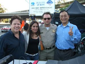 Steve Moore with Christian Slater & John Chou