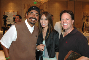 George Lopez with Lily and Steve Moore