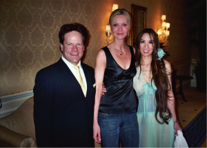 Steve Moore, Joan Allen and Lily Moore