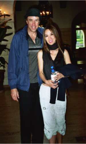 Kevin Nealon and Lily Moore