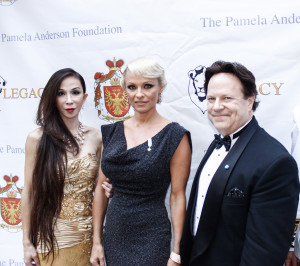 Lady Pamela Anderson with Lily and Steve Moore