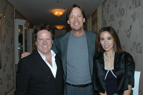 Lily and Steve Moore with Kevin Sorbo