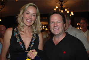 Sharon Stone and Steve Moore