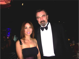 Lily Moore and Tom Selleck