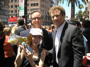 Lily Moore with Will Ferrell