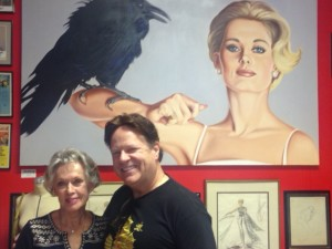 Tippi Hedren and Steve Moore